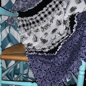 New handmade kids throw rag quilt
